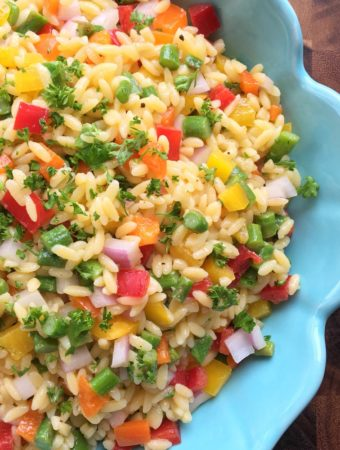 Spring Vegetable + Orzo Confetti Salad
