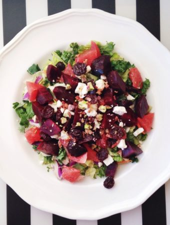 Winter Beet and Grapefruit Salad with Kiwi Citrus Vinaigrette