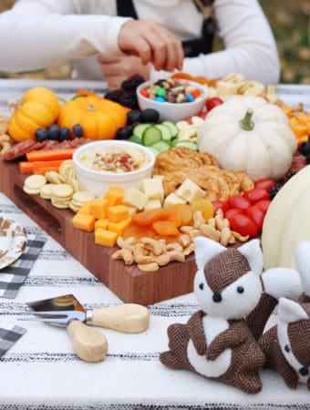Charcuterie Board for Kids and a Mini Friendsgiving